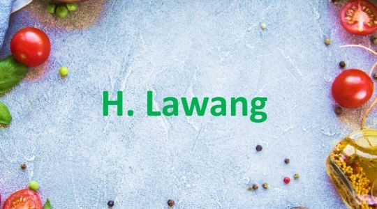 Menu & Review H. Lawang - Tanah Abang
