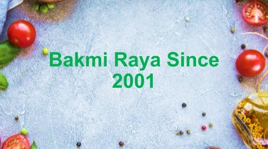 Menu & Review Bakmi Raya Since 2001 - Lebak Bulus