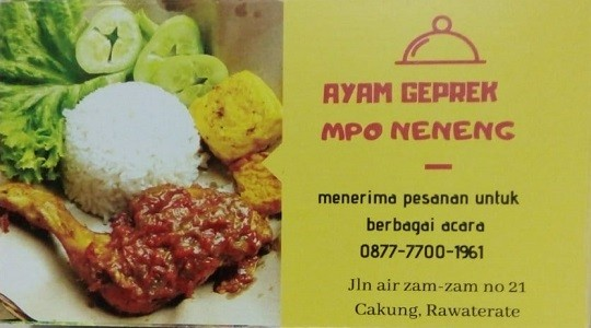 Menu & Review Ayam Geprek Mpo Neneng - Terate