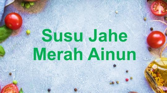 Menu & Review Susu Jahe Merah Ainun - Sunter Jaya