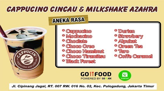 Menu & Review Cappucino Cincau Azahra - Cipinang