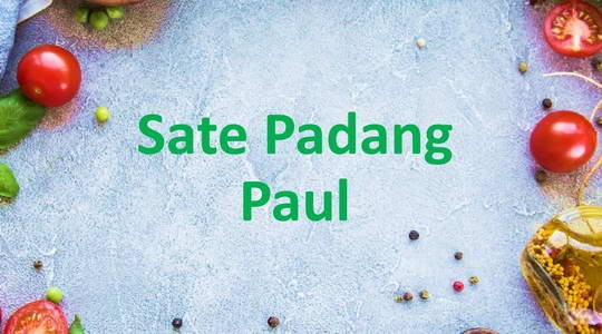 Menu & Review Sate Padang Paul - Koja