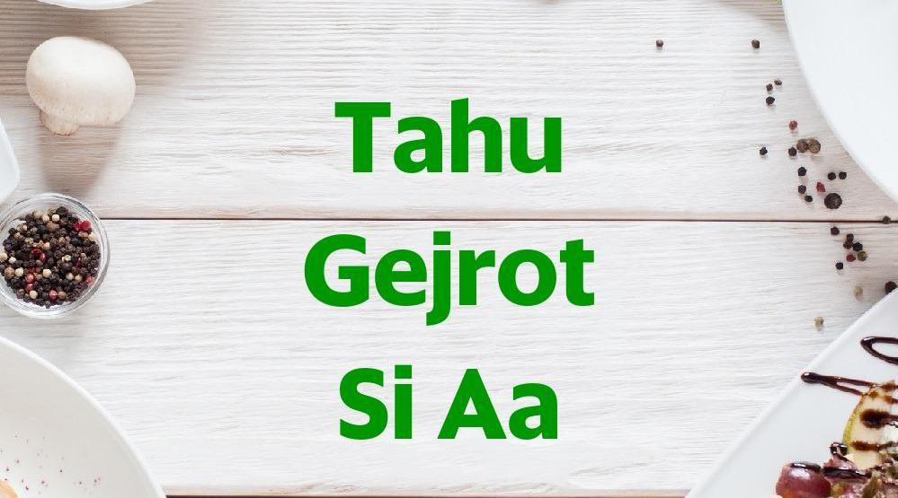 Menu & Review Tahu Gejrot Si Aa - Kalisari