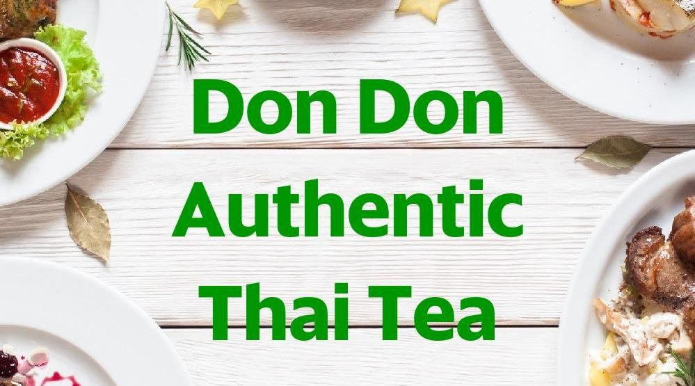 Menu & Review Don Don Authentic Thai Tea - Poris - Cipondoh