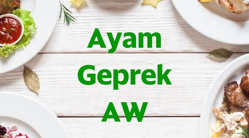 Menu & Review Ayam Geprek AW - Cemara