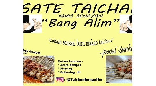 Menu & Review Sate Taichan Bang Alim - Paseban