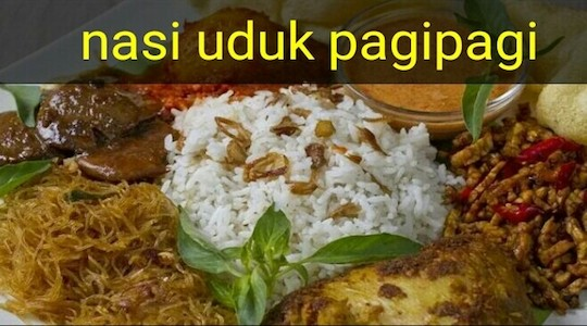 Menu & Review Nasi Uduk Pagipagi - Petamburan