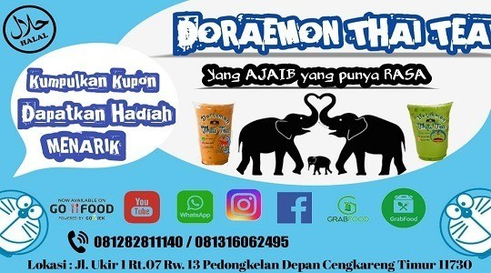 Menu & Review Doraemon Thai Tea - Kapuk - Cengkareng